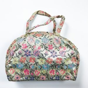 VINTAGE Beauty Toiletry Travel Bag With Containers